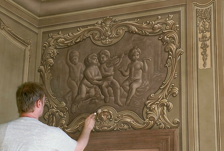 grisaille met putti